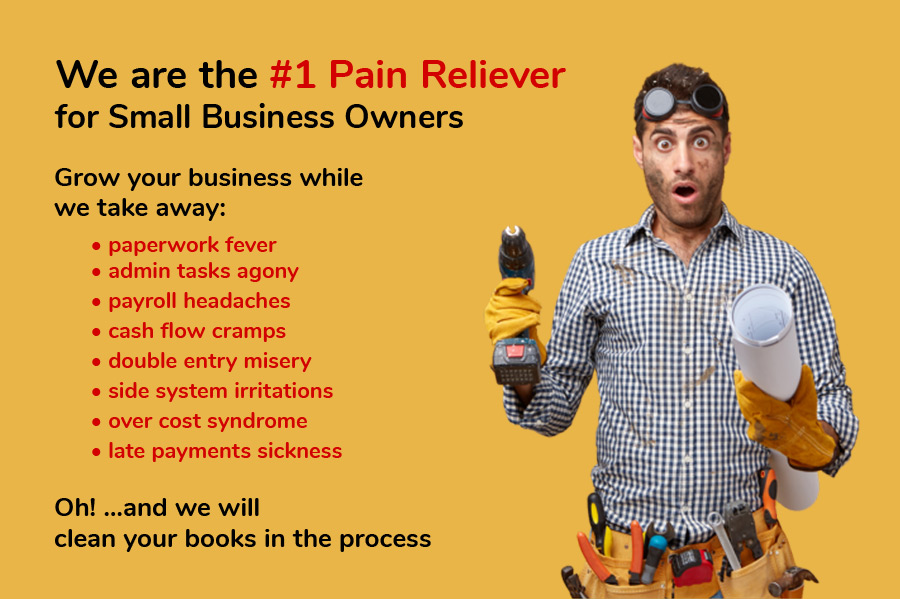 Complete Bookkeeping Services Edmonton - We are the #1 Pain Reliever for Small Business Owners